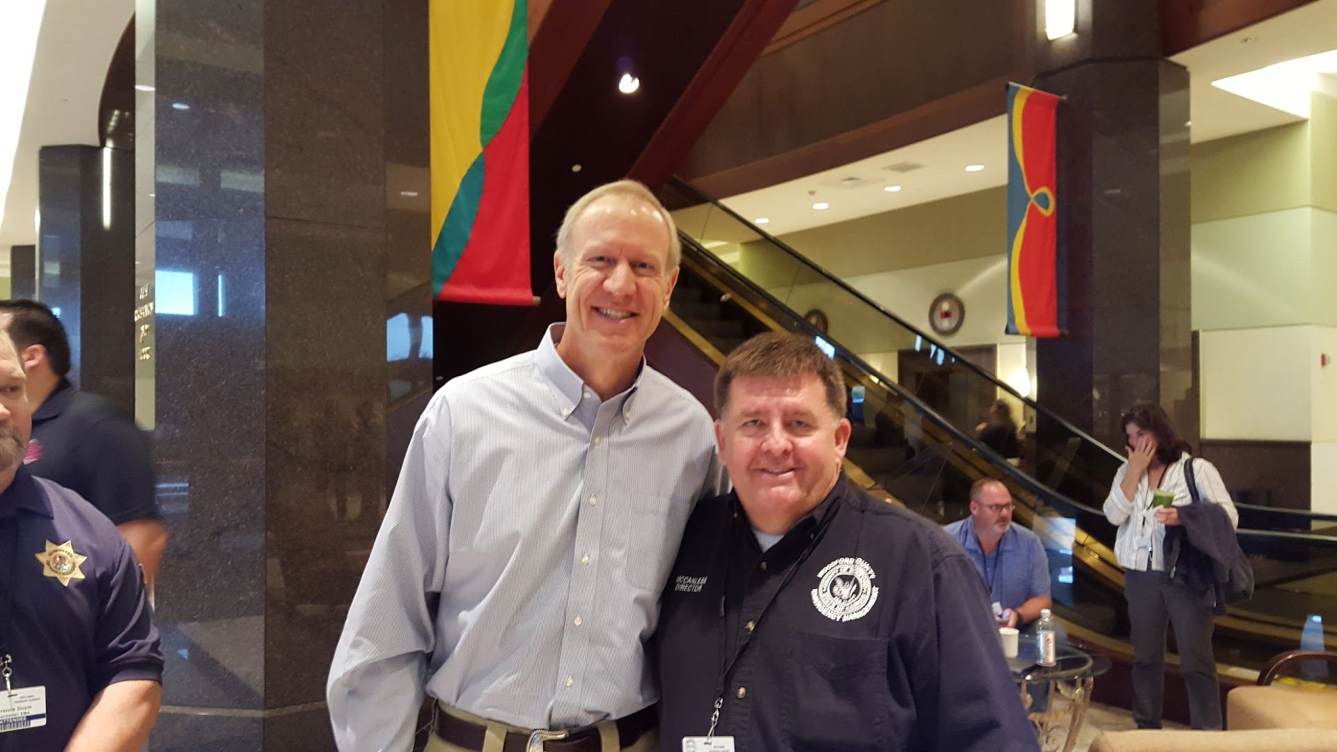 Kent McCanless with Governor Rauner