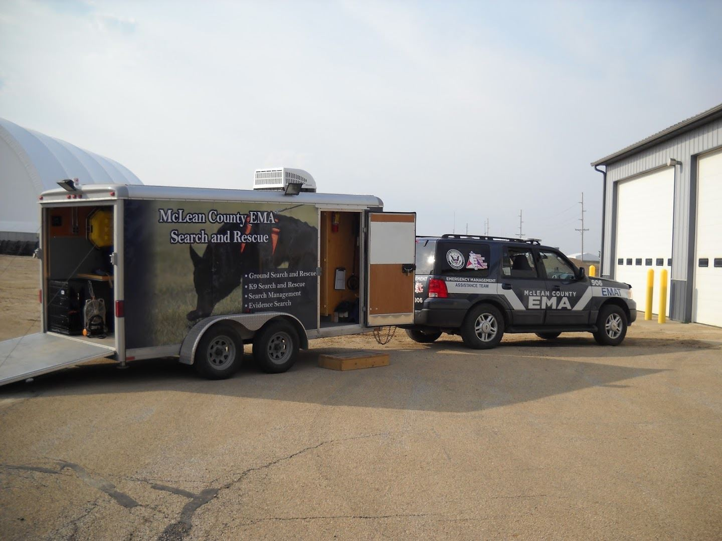 McClean County Search and Rescue SUV and Trailer