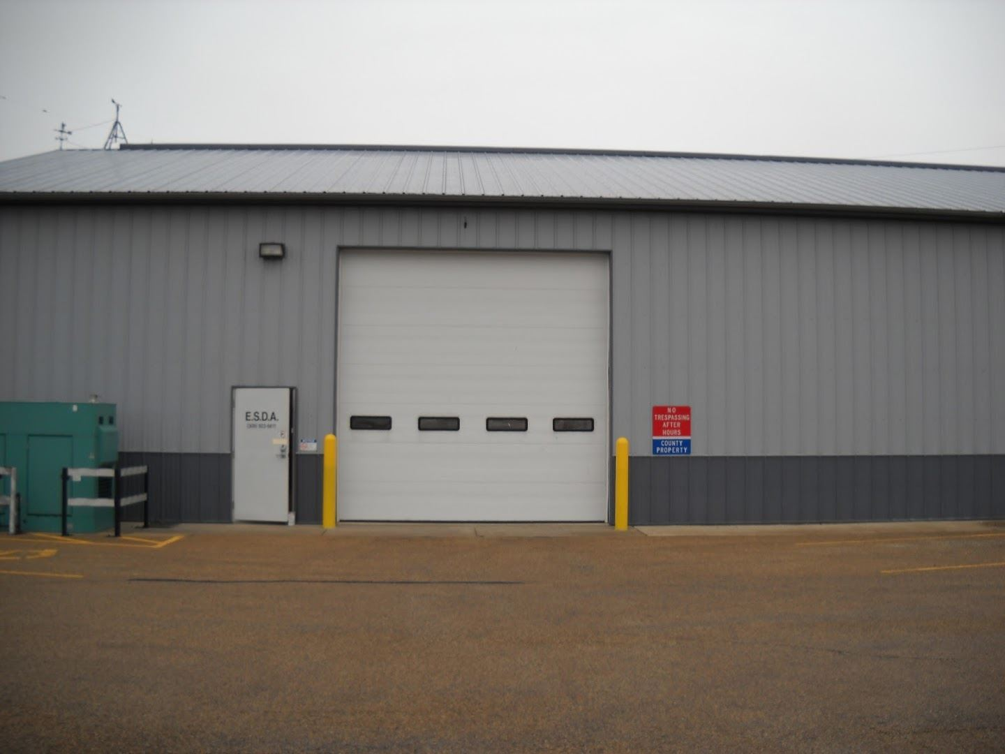 Emergency Management Shed and Shed Door