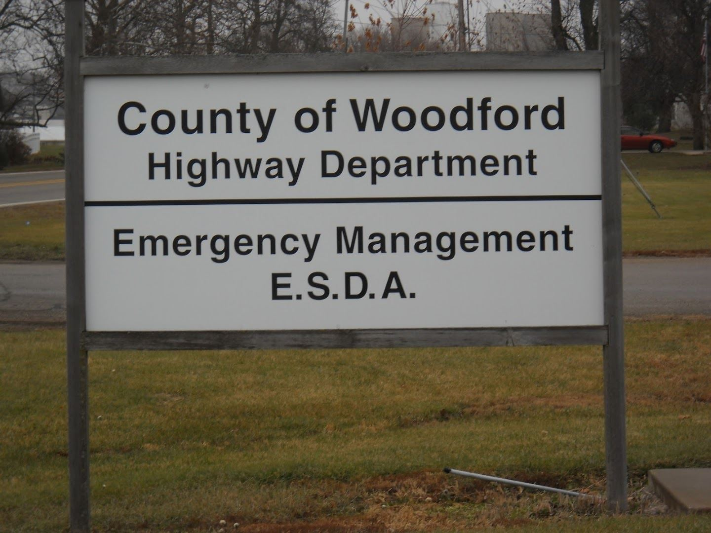 County of Woodford Emergency Management Sign
